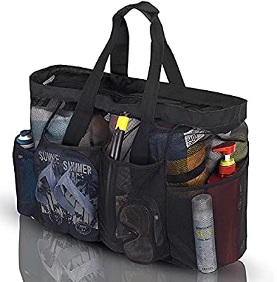 GOTDYA XL Mesh Beach Bags and Totes, Extra Large Beach Bag with Zipper and Pockets, Oversized Big Beach Duffle Bag for Towels Beach Toys, Ideal for Your Family Pool Trip
