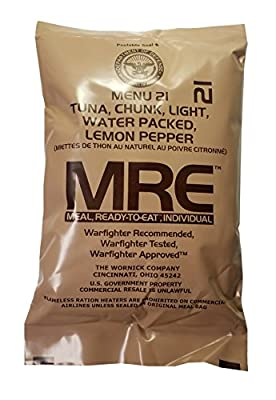 Lemon Pepper Tuna MRE Meal - Genuine US Military Surplus Inspection Date 2020 and Up