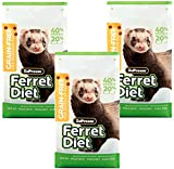 ZuPreem Premium Daily Grain Free Ferret Diet Food, 4 lb (3-Pack) - Nutrient Dense, Highly Digestible, High Protein Levels