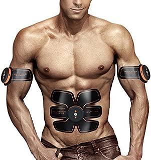 UMATE ABS Stimulator Muscle Toner Abdominal Toning Belt Workouts Portable AB Training Home Office Fitness Equipment for Abdomen/Arm/Leg Training Men Women