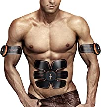 UMATE ABS Stimulator Muscle Toner Abdominal Toning Belt Workouts Portable AB Training Home Office Fitness Equipment for Abdomen/Arm/Leg Training Men Women