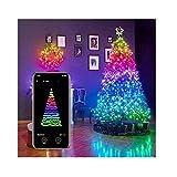 USB 2-20M móviles Bluetooth cadena de luces LED for la decoración del árbol de Navidad de aplicaciones de control remoto de iluminación decoloración cadena de sincronización de música for el partido,