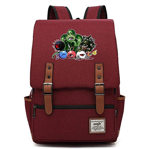 QAQB Fashion CasualMonster Shelter Youth Student Schoolbag Men's and Women's Leisure Belt Buckle Backpack-13_16 Inch