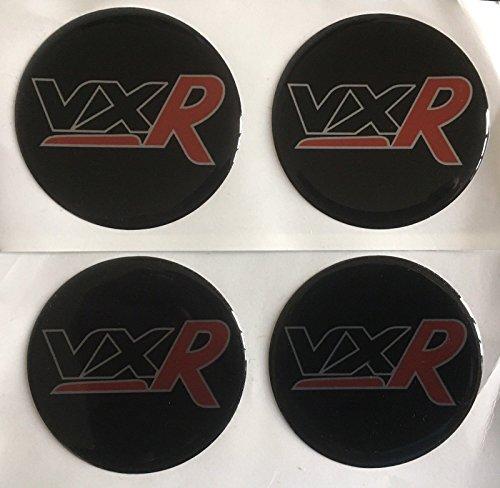 SCOOBY DESIGNS Lot de 4 autocollants en forme de dôme pour centre de roue en alliage Vauxhall VXR Rouge Toutes tailles (60 mm)