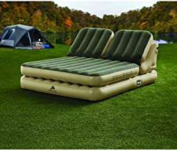Ozark Trail`` Dual Incline Queen Adjustable Airbed w/Built-in Electric Pump