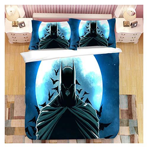 NGLQWA Cultura Juvenil Impresión Digital Exclusiva Diseño A Doble Cara Juego De Cama Batman De Cuatro Piezas Juego De Cama De Cuatro Piezas (Color : J, Size : Queen)