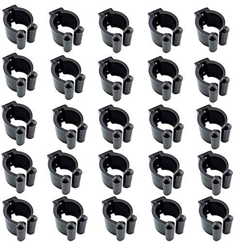 Sqxaldm Kunststoff Billard Queue Halterung Billard Queue Clips aus Kunststoff Wandhalterung Clips aus Kunststoff Billard Halter Kunststoff Clip Kunststoff Billard Halter für Queue Halterung(25 Stücke)