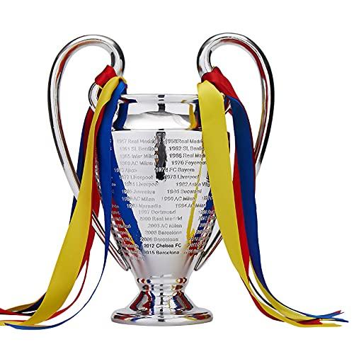 WYB Soccer League Trophy, 1/1 UEFA European Trophy League Champions Large Ears Chelsea Soccer Trophy Model Fan Collection Souvenirs, Home Decor,B77CM
