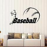 wopiaol Tatuajes de Pared Juego de béisbol Jugador de la cancha Vestuario Deportes Niños Dormitorio Decoración del hogar Vinilo Ventana Pegatinas Arte Mural