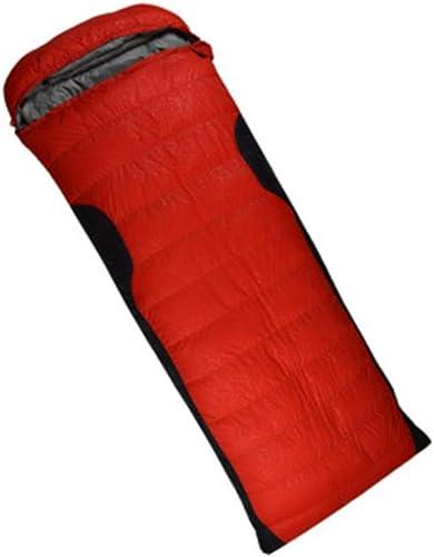 Qys Enveloppe Ultra-Léger De Plein Air Portable vers Le Bas Sac De Couchage avec Sac De Compression Adulte Imperméable Coupe-Vent Garder Au Chaud,rouge,1.2Kg