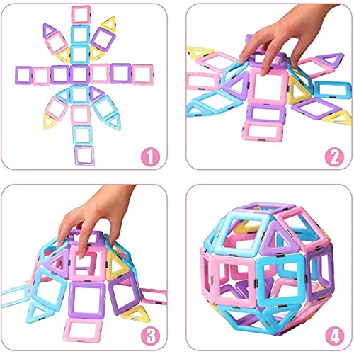 Building Blocks Magnet Tiles Early Educational & Development Toys Magnet Building Blocks for Girls and Boys Birthday Gift2