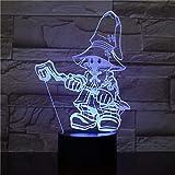Neon Lights Bar Juego de Dibujos Animados 3D LED Night Light 16 Cambios de Color 3D LED Lights Regalo de cumpleaños Navidad