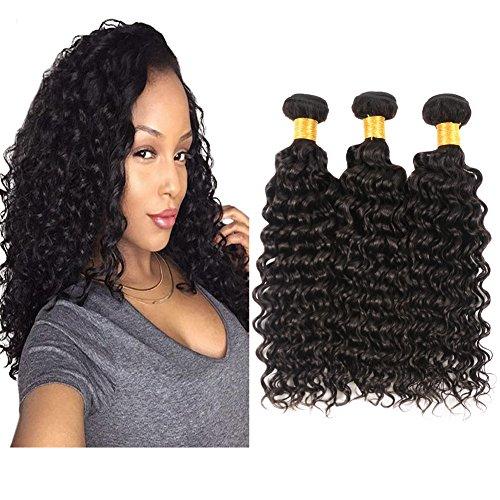 Huarisi Deep Curly 3 Bundles of Brazilian Hair 20 22 24 Deep Wave Hair Weave 8a Unprocessed Virgin Hair Tissage 100% Cheveux Humain Prime