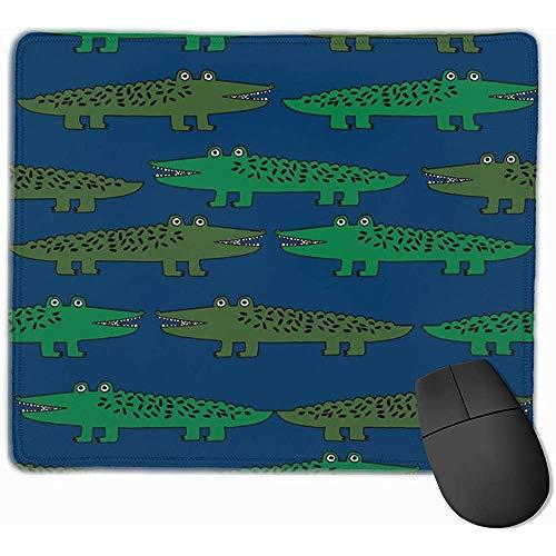 Tapis de Souris en Alligator Vert et Bleu Marine pour Chambre de bébé