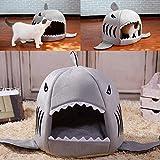 Feli546Bruce Cama para Mascotas, otoño, Invierno, con Forma de tiburón, para Mascotas, Perros, Gatos, Cachorros, Cachorros, Cachorros, sofás, Gatos, Cojines, Cama, Saco de Dormir