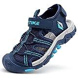 Sandalias para niño Sandalias Deportivas Zapatillas de Trekking Sandalias de Senderismo Niña Sandalias de Vestir(H Azul,33 EU)