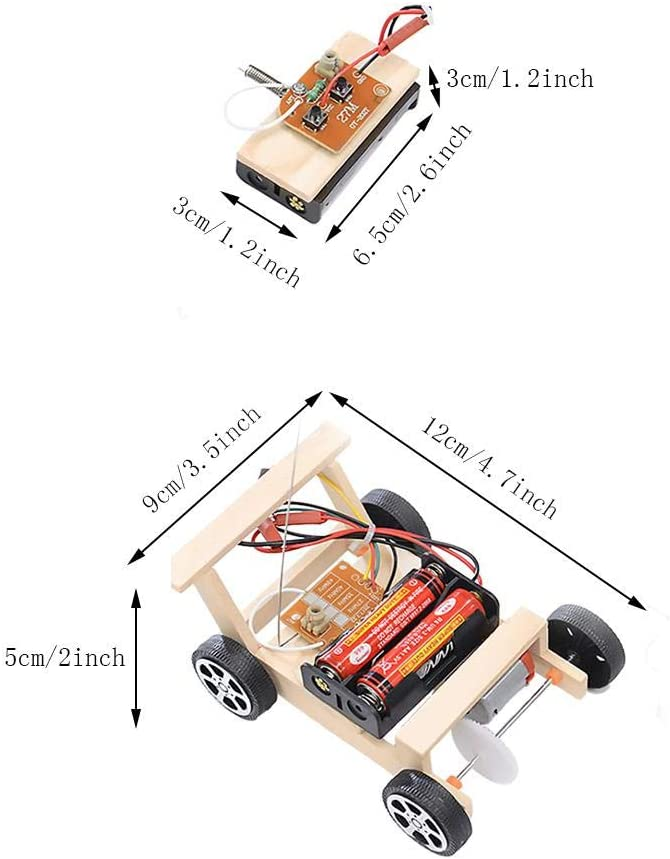 Deryang DIY Wooden RC Model Childr Car Toddlers Free Japan's largest assortment shipping for