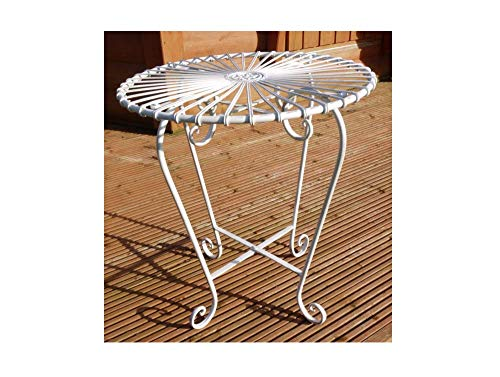 Black Country Metal Works White Retro Wrought Iron Bistro Table - Matching Chairs Available!