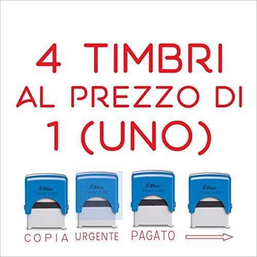 Timbro Shiny Printer - 4 PZ A SCELTA Timbro Autoinchiostrante,S-222 (PAGATO)