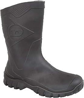 Mens Dunlop Short Half Length Ankle Wellington Wellies Boots WIDE