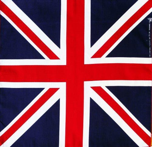 100% cotton Flag of Union Jack Handkerchief Headwrap Bandana by JATUJAKTHAI