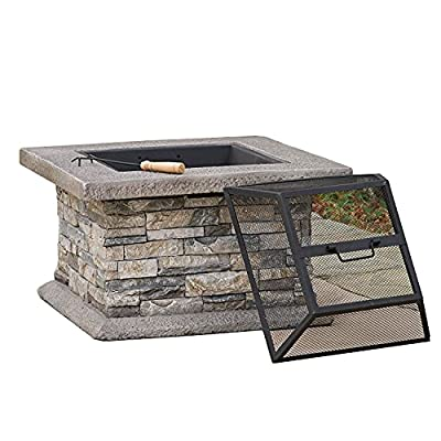 Fire Pit 24-inch Garden fire Pit, Courtyard Heating fire Pit, Home Patio Barbecue Fireplace (Color : Style2) by Lijack