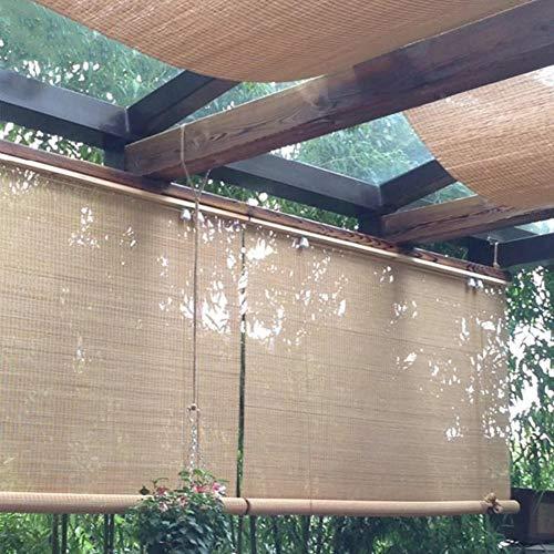 FF Estores enrollables Sombrilla Exterior Enrollable, Persianas Enrollables Exteriores para Terraza Gazebo Pergola Porch, Fácil De Arreglar, Carbonizado, 80/100/120/140 Cm De Ancho (Size : 100×240cm)