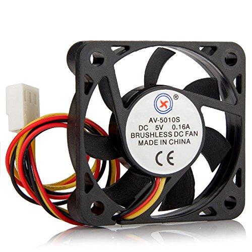 DIYhz 4Pcs Double Aperture Fan 12cm Chassis Fan Mute Desktop Computer Mainframe Fan Cooling Fan