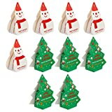 VALICLUD 10 Pcs De Noël Papier Coffrets Cadeaux Arbre De Noël Bonhomme De Neige Forme Boîte De Bonbons Traiter Gâteau Au Chocolat Emballage Cas Conteneur Pour Les Vacances De Fête De