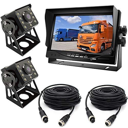 """pumpkin1:2×8LED120 ° Ampio Angolo di Visione IR Vison Notturno Telecamera di Parcheggio a Retromarcia Impermeabile con cavo 15M Linea del cavo +7 \""""TFT LCD HD Car Monitor per Camion /Rimorchio/Camper"""