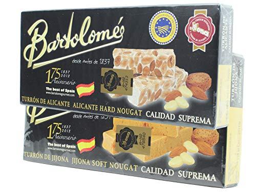 Bartolomé desde antes de 1837 Pack 2 Cajas Turrón - Alicante y Jijona - 2 x 150 Gramos