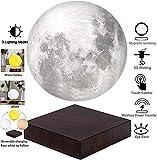 JINRU Moon Light - Luz de la Luna Luz de levitación Familia, decoración de la Oficina, Regalos creativos, 6.0, Cuenta con Tres Modos de Color