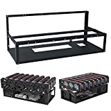 Mining Rig Frame, Steel Open Air Miner Mining Frame Rig Case Up to 8 GPU for Crypto Coin Currency Bitcoin Mining Accessories Tools -Frame Only, Fans & GPU is not Included