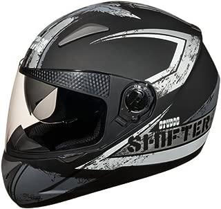 Studds Shifter Helmet D1 Matt Black and Grey(L)