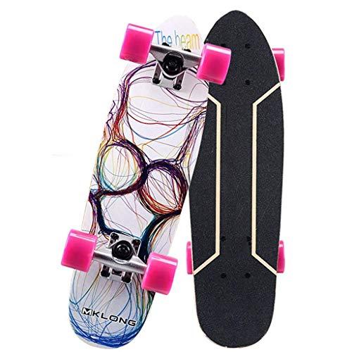 LQH Kinder Skateboard Voll Skateboard 26x8 Zoll-Anfänger, Jugendliche-Cruiser Anti-Rutsch-Deck Geschenk Skateboard for Jungen und Mädchen for Erwachsene