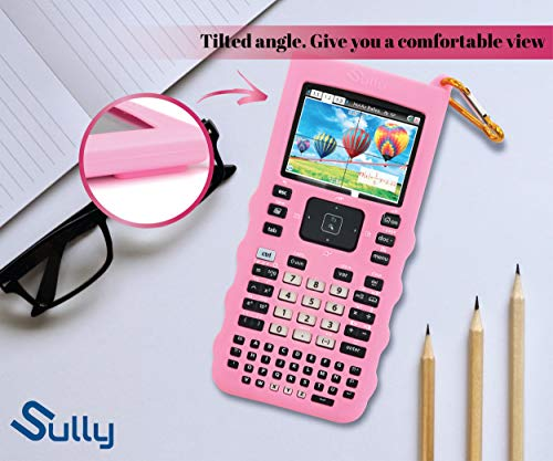 Sully Silicone Skin for Ti Nspire CX/CX CAS Handheld (Pink) w/Screen Protector - Silicon Cover Case for Ti-Nspire CX Hand held Graphing Calculator - Protective & Anti-Scretch Skins & Screen Covers Photo #6