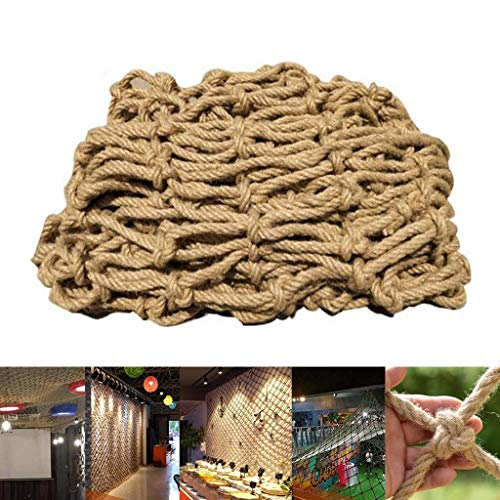 Read About JNBJNB Jute Hemp Netting Protection Net - Natural Jute Weave Outdoor Isolation Safety Net...