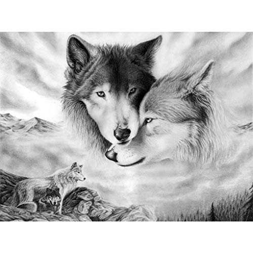 Jigsaw Puzzle 1000 Piece Two Wolves Adult Puzzle DIY Kit Wooden Puzzle Modern Home Decor Unique Gift