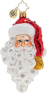 Christopher Radko Grinning Santa Christmas Ornament