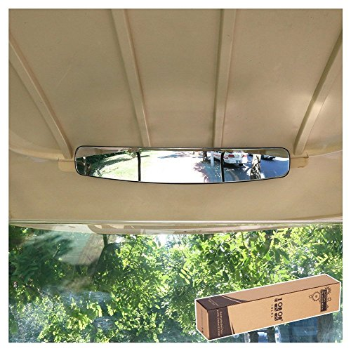 """10L0L 16.5"""" Extra Wide 180 Degree Panoramic Rear View Mirror for Golf Carts EzGo Yamaha"""