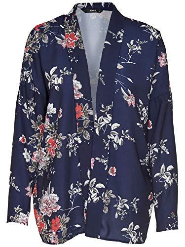 Only Terra 15158670 Kimono Kurzes Kleid Blaues Night Sky Blue - Pantalón Corto Turquesa S