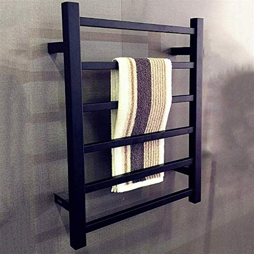 TUHFG Radiador de toallas, negro, calentador de toallas, pulverizador, acero inoxidable, toallero...