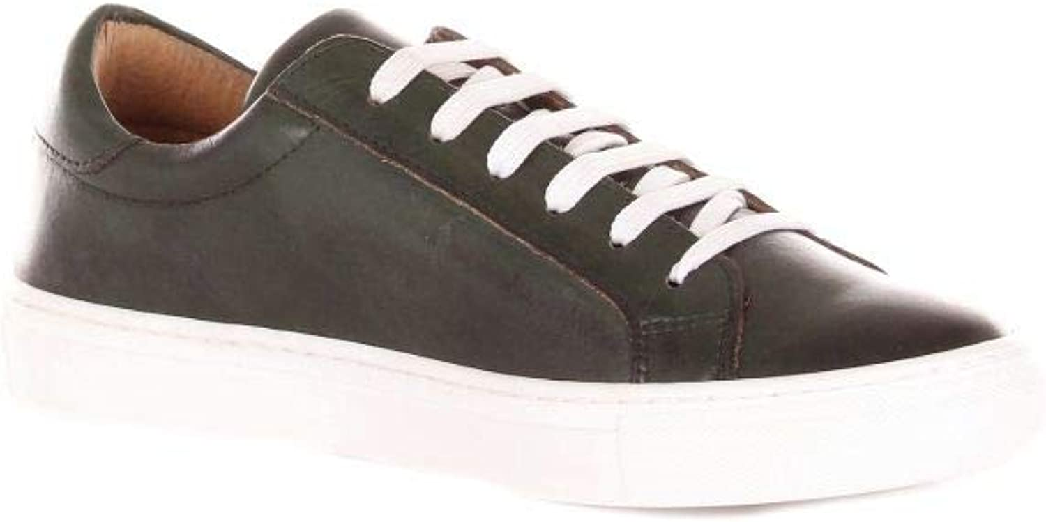 SCíCCò Women's 05DCRUSTDARKGREEN Green Leather Sneakers