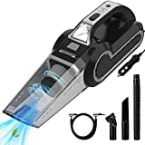 Enpro Handheld Vacuums, Mutifunction Car Vacuums Cleaner with Searchlight, Tire Pressure Gauge and Car Inflator, 120W DC 12V Up to 6500Pa Powerful Suction for Wet and Dry