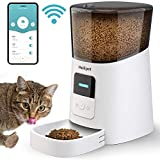Holipet Automatic Cat Feeder WiFi Enable Smart Pet Dog Food Dispenser App Control for Medium Small Pet Puppy Kitten,Voice Recorder Distribution Alarms, Portion Control