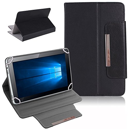Nauci Tablet Schutz Tasche Hülle für ARCHOS 101b Xenon Hülle Cover Universal Bag, Farben:Schwarz