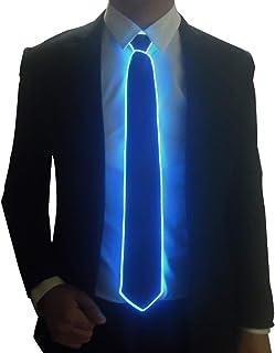 SATUMIKO Burning Man Light Up Fanny Ties Novelty Necktie For Men LED Light Up Ties Costume Accessory