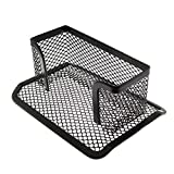 RuiLing 1-Pack Multipurpose Metal Mesh Business Card Holder Name Card Collection Display Stand Organizer Storage Case for Desk Home Office Supplies(Black)