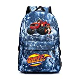 Blaze and The Monster Machines Valigeria Uomini Zaino Popolari Stili da viaggio Borsa da viaggio High Capacity Zaino Borsa escursionistica All'aperto Design Design Daypack bambini