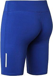 VANSOON Women Fitness Yoga Pants Reflective Strip Night Running Training High Waist Workout Yoga Compression Exercise Shorts